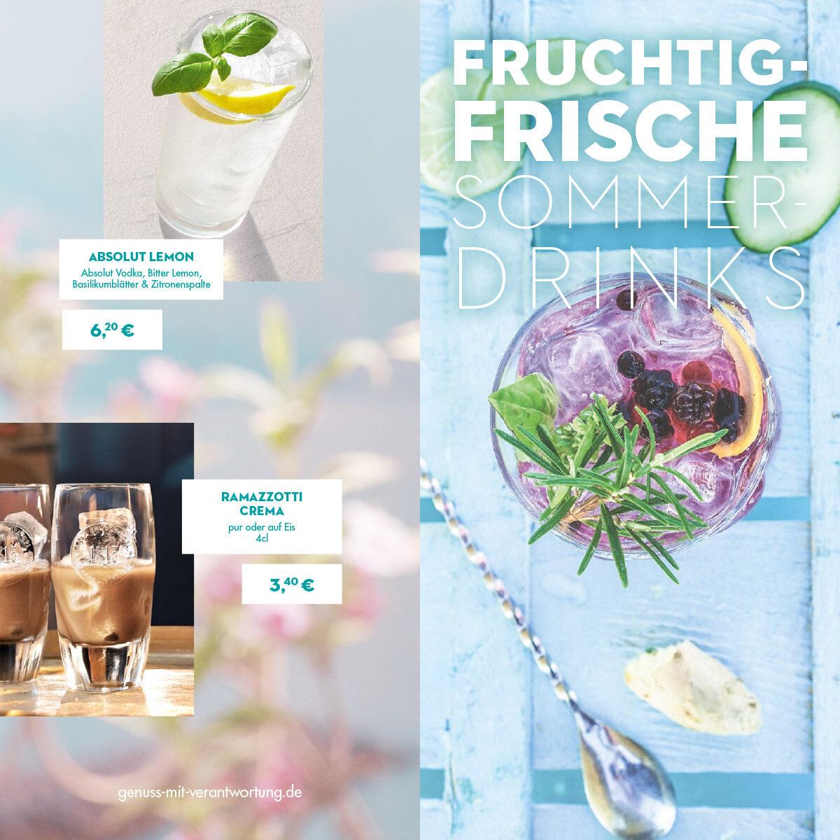 Fruchtig frische Sommerdrinks